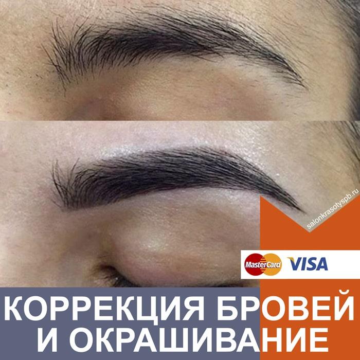 Коррекция и окрашивание бровей в Приморском районе СПб